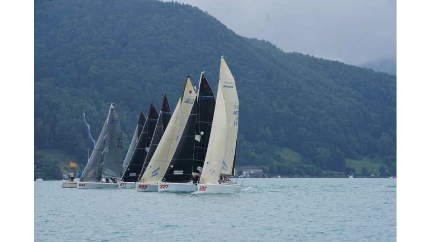 2020 Melges 24 European Sailing Series regatta in Kammersee on Attersee
