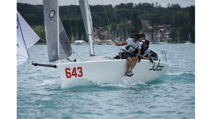 Austrian ORCA team of Helmut Gottwald completed the podium of the 2020 Melges 24 European Sailing Series Event #2 in Attersee, Austria
