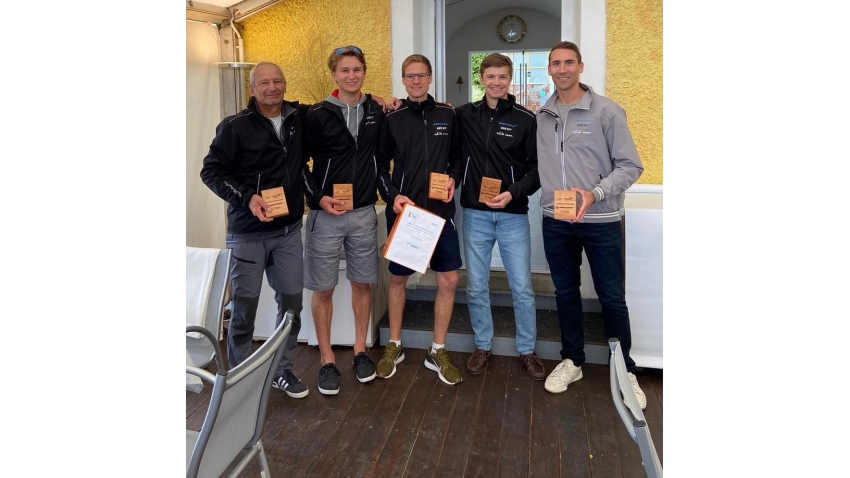 White Room GER-677 of Michael Tarabochia with Luis Tarabochia at the helm and Marco Tarabochia, Sebastian Bühler, Marvin Frisch in crew  - 2020 Melges 24 Austrian Champion