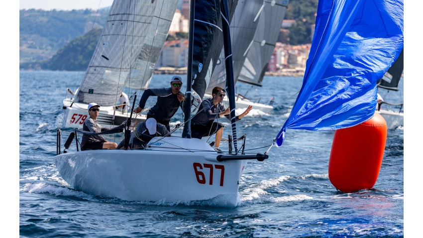 White Room GER677 of Michael Tarabochia with Luis Tarabochia at the helm is second best Corinthian team on Day One at the Melges 24 European Sailing Series Event #3 in Portoroz, Slovenia