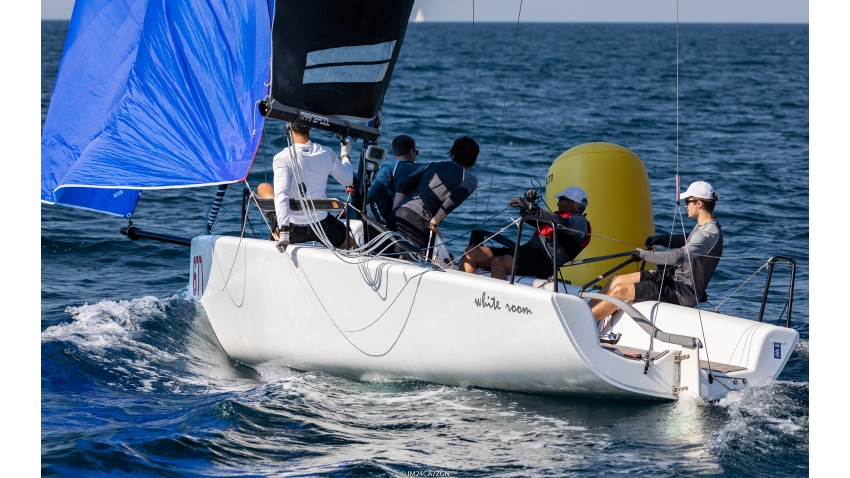 White Room GER677 of Michael Tarabochia with Luis Tarabochia at the helm was victorious in Corinthian division, completing the overall podium as third at the Melges 24 European Sailing Series Event #3 in Portoroz, Slovenia