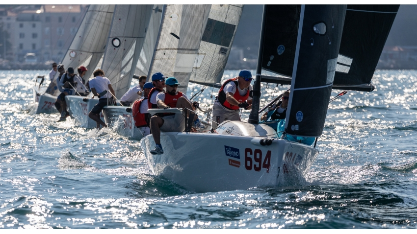 Miles Quinton's Gill Race Team GBR694 with Geoff Carveth finished second in Corinthian division and fourth in Overall ranking at the 2020 Melges 24 European Sailing Series Event #3 in Portoroz, Slovenia