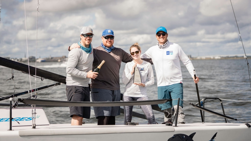 Jaws, USA775 of Roger Counihan / Todd Wilson / Travis Maier / Tiffany Wilson - 2020 Melges 24 Charleston Open