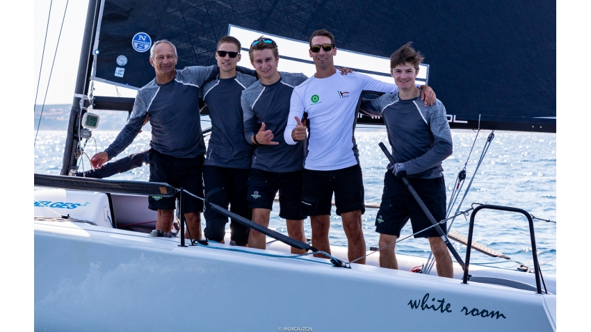 White Room GER677 of Michael Tarabochia with Luis Tarabochia, Sebastian Bühler, Marco Tarabochia and Marvin Frisch - overall and Corinthian winner of the 2020 Melges 24 European Sailing Series