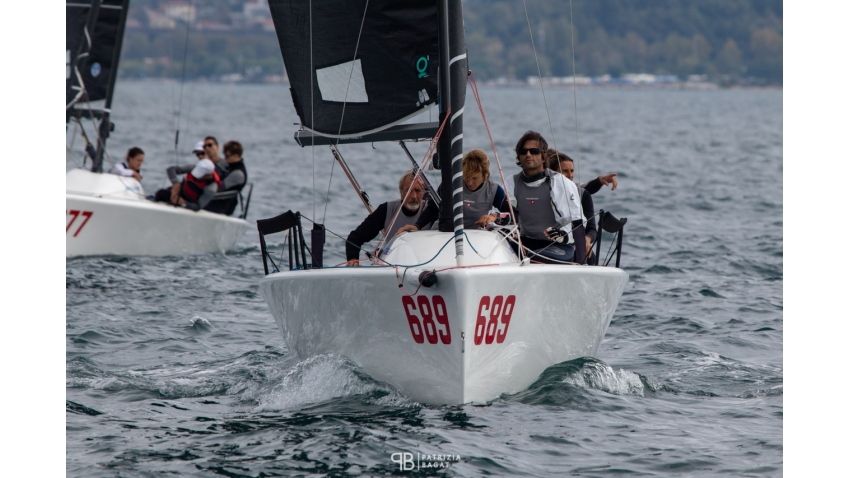 Michele Paoletti's Strambapapa ITA689 at the final event of the 2020 Melges 24 European Sailing Series in Trieste