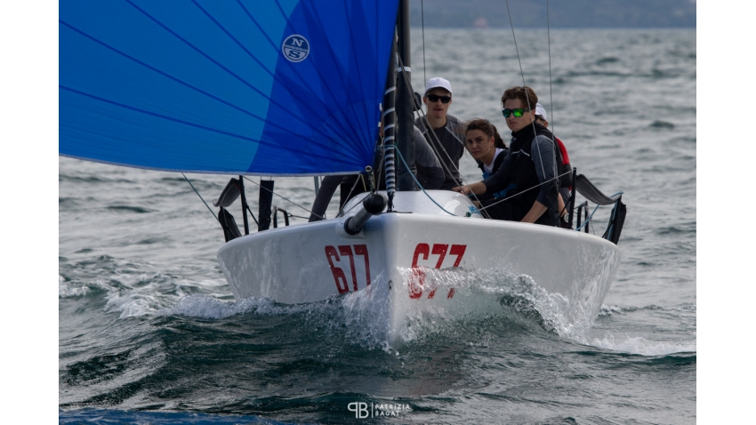 White Room GER677 of Michael Tarabochia with Luis Tarabochia at the helm is on  the second position in the overall results being now the best Corinthian team in Trieste at the final event of the 2020 Melges 24 European Sailing Series