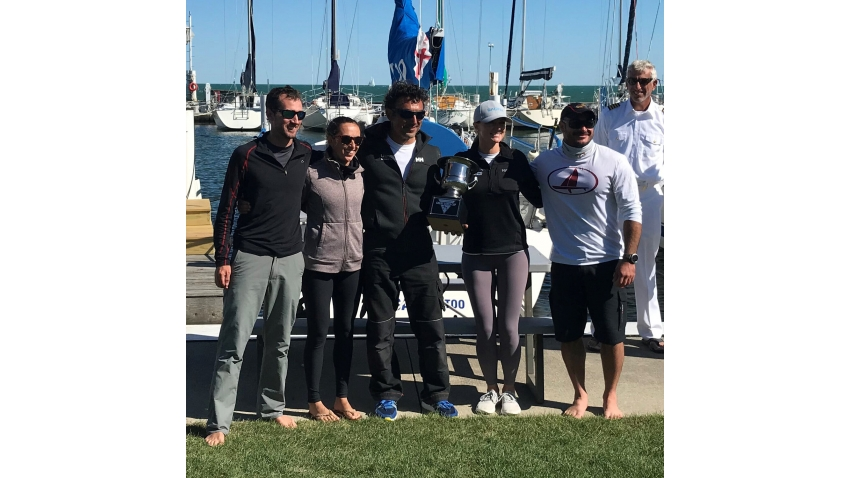 USM2CA 2020 Melges 24 Quantum Melges 24 Great Lakes Trophy winners - Bora Gulari's team on New England Ropes USA820