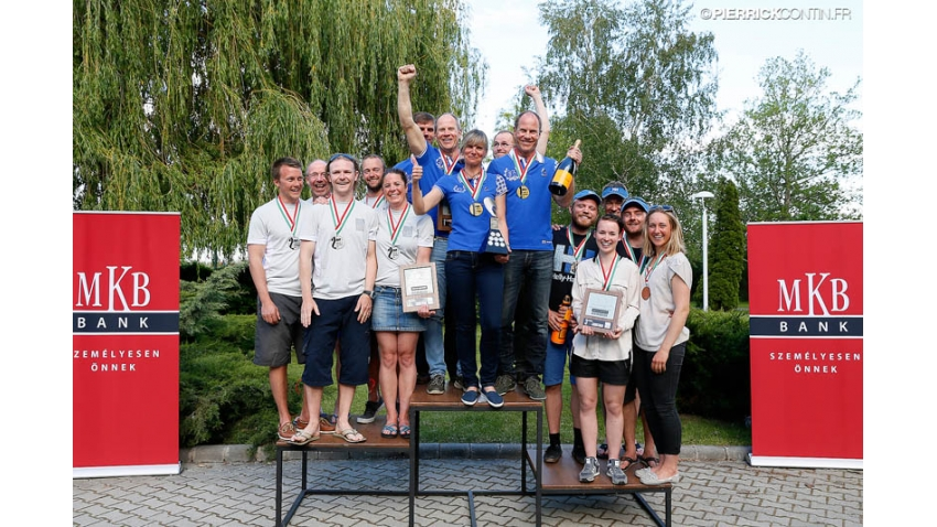 2014 Melges 24 Europeans in Balatonfüred, Hungary - Corinthian podium - 1st Lenny EST790 of Tõnu Tõniste, 2nd Salty Dog DEN779 of Peter Warrer, 3rd Melges.dk DEN612 of Kris Houmann