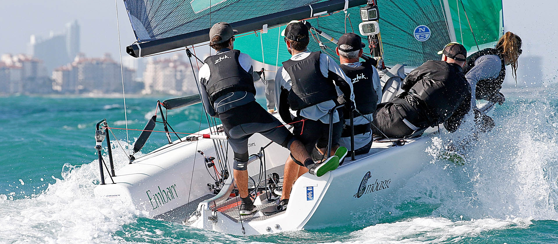 Embarr IRL829 of Conor Clarke - 2016 Melges 24 World Champion at the World Championship in Miami, USA