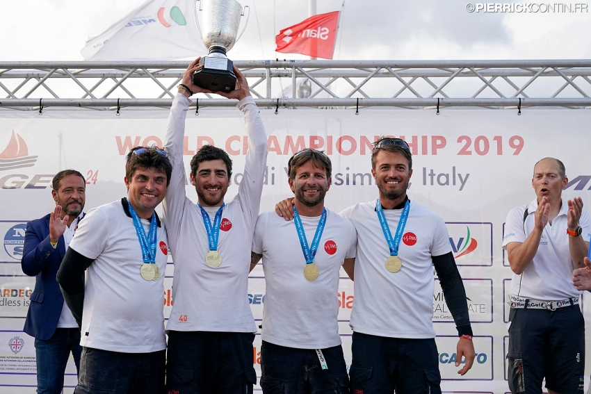 Corinthian winner of the 2019 Melges 24 European Sailing Series - Taki 4 ITA778 of Marco Zammarchi with Niccolo Bertola at the helm