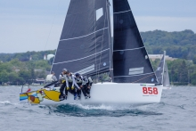 Travis Weisleder and his Lucky Dog / Gill Race Team USA858 at the 2019 Melges 24 North American Championship