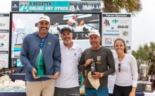John Bowden (second from left) aboard of Travis Weisleder's Lucky Dog / Gill Race Team USA858 - the winner of 2019 Sperry Charleston Race Week