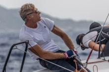 Paolo Brescia at the 2019 Melges 24 Pre-Worlds in Villasimius, Sardinia, Italy