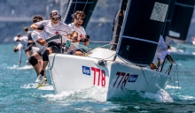 Marco Zammarchi's Taki 4 ITA778 with Niccolo Bertola at the helm - 2020 Melges 24 European Sailing Series Event #1 in Torbole, Italy