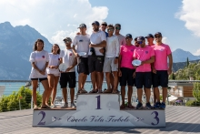 Overall Top 3 of the 2020 Melges 24 European Sailing Series Event #1 in Torbole, Italy