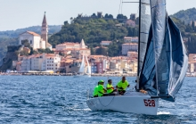 Fabio Rochelli's Zero-24 ITA528 is third in the Corinthian division at the 2020 Melges 24 European Sailing Series Event #3 in Portoroz, Slovenia after Day One