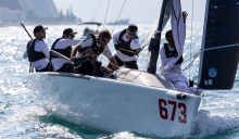 Peter Karrie's team Nefeli GER673 with Niccolo Bianchi, Carlo Zermini, Alessandro Franci and Saverio Cigliano took well-earned victory at the Marina Portoroz Regatta in Slovenia, at the 2020 Melges 24 European Sailing Series 3rd regatta