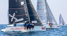 Arkanoe by Montura ITA809 of Sergio Caramel is completing the preliminary podium of the 2020 Melges 24 European Sailing Series